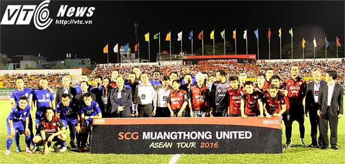 Trong khuôn khổ ASEAN tour cũng như kỉ niệm 40 năm ngoại giao Việt - Thái, Muangthong Utd đã có trận đấu giao hữu với B.Bình Dương, trên sân Thống Nhất vào tối qua
