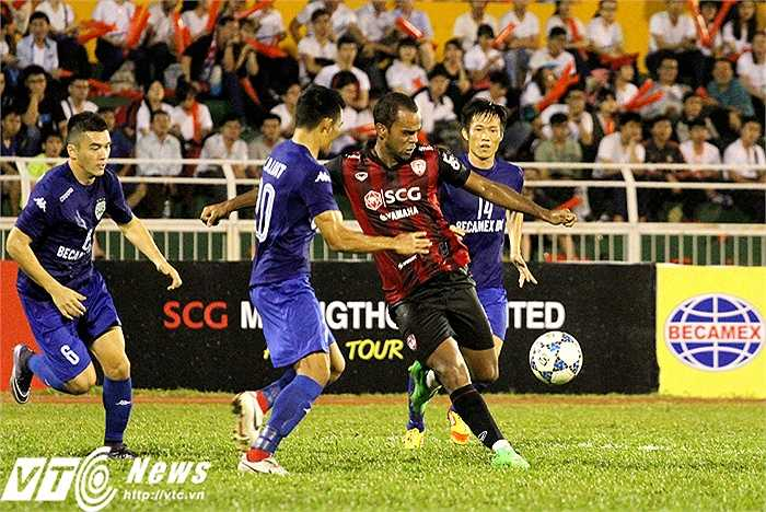 Ghi một bàn cho Muangthong trong trận giao hữu này là tiền đạo Pinto Junior. Tỉ số chung cuộc của trận đấu là 2-1 nghiêng về B.Bình Dương