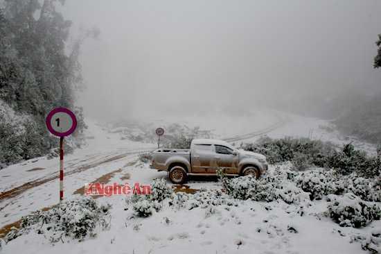 Miền Trung rét kỷ lục, tuyết phủ trắng miền Tây Nghệ An (Ảnh: Báo Nghệ An)