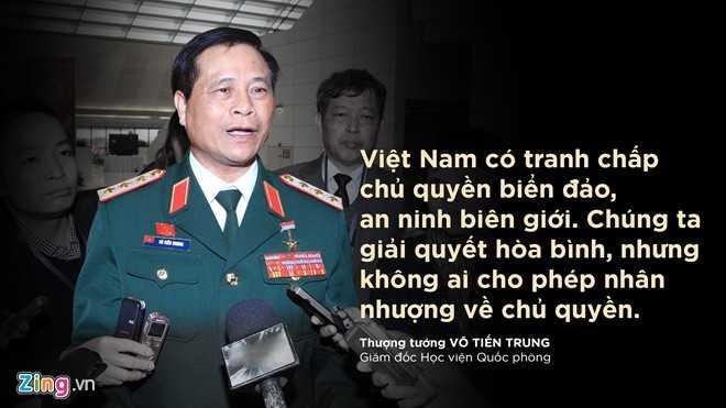Thượng tướng Võ Tiến Trung, Giám đốc Học viện Quốc phòng trả lời Zing.vn