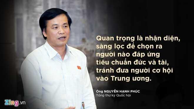 Ông Nguyễn Hạnh Phúc nói về tiêu chuẩn của Ủy viên Ban chấp hành Trung ương.