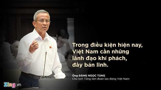Ông Đặng Ngọc Tùng – Chủ tịch Tổng liên đoàn lao động Việt Nam phát biểu trước toàn thể Đại hội.