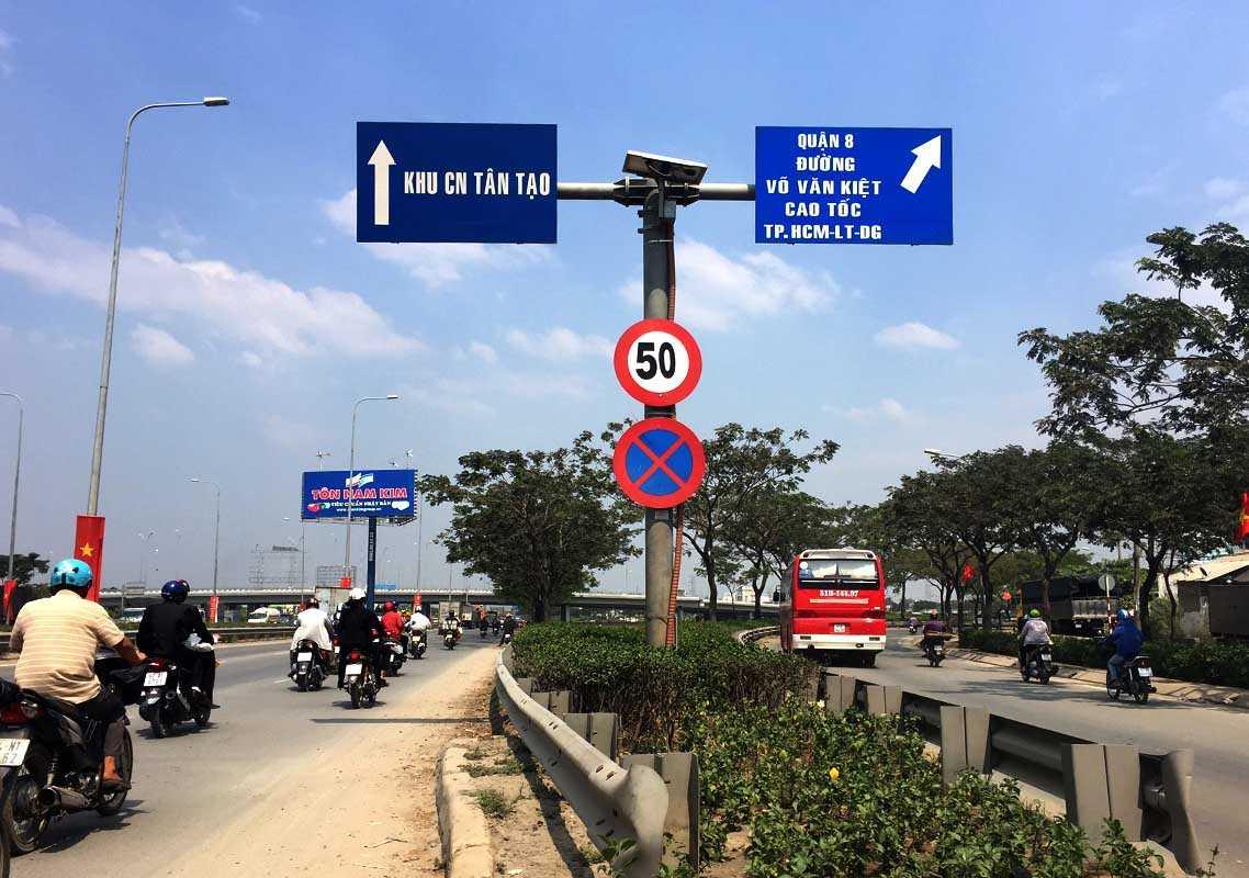 Các tuyến đường đã được thay biển giới hạn tốc độ cho phép là 50km/h