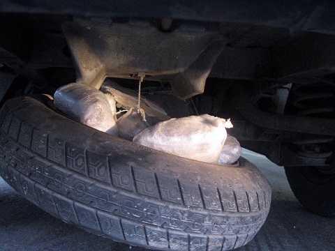 Ma túy thường được giấu trong lốp và khung xe