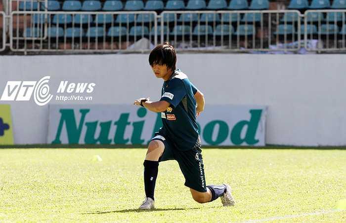 Tiền vệ quê Thái Bình này vẫn chưa hoàn toàn đạt được phong độ cũng như cảm giác tốt nhất