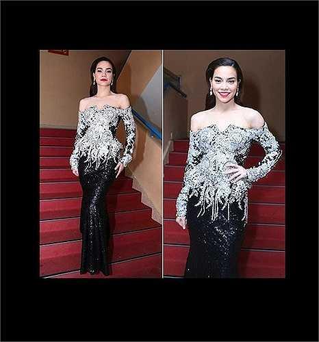 Một thiết kế đính đá cầu kỳ khác bị đánh giá là nặng nề, chưa làm bật lên được vẻ ngoài xinh đẹp của nữ ca sỹ.