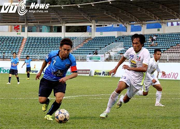 Trong trận giao hữu HAGL 0-1 Yokohama, Văn Pho không khác gì 'hòn đá tảng' chắn trước khung thành