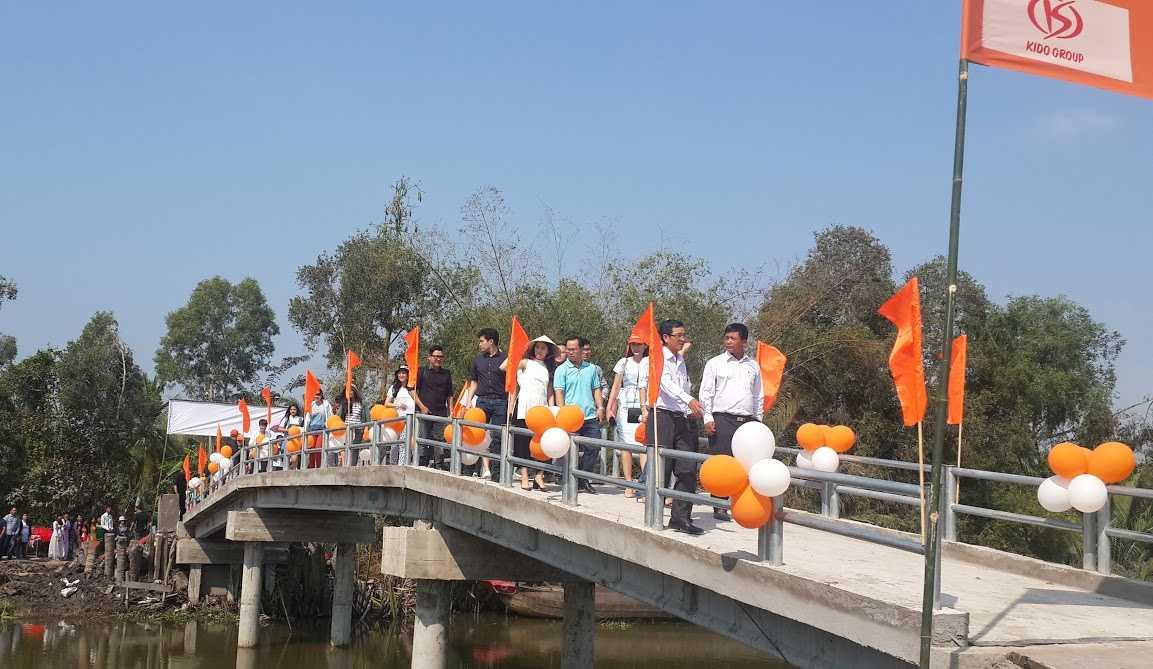 chiếc cầu TD 15-7 do KIDO tài trợ xây dựng đã được khánh thành vào ngày 31/01/2016