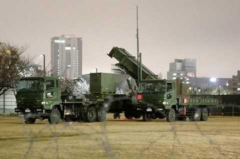 Tên lửa đánh chặn Patriot PAC-3 luôn được đặt trong tình trạng sẵn sàng chiến đấu.