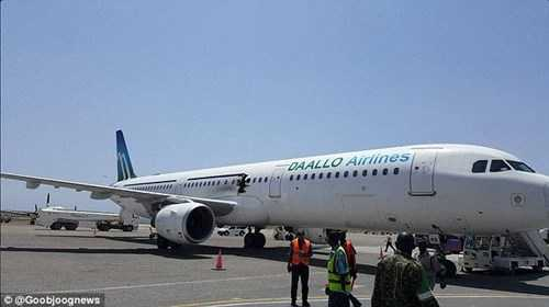 Dù bị thủng nhưng máy bay vẫn hạ cánh an toàn