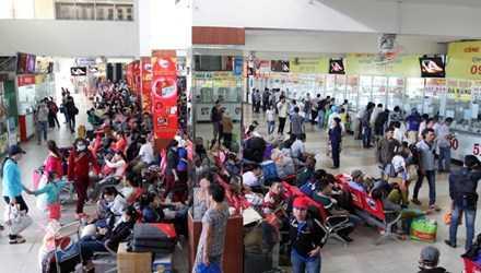 Ngày 5/2 (27 Tết), hàng chục nghìn người đổ về Bến xe miền Đông (quận Bình Thạnh, TP HCM) để về quê ăn Tết.