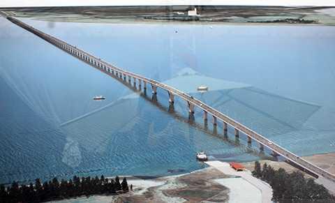 Mô hình cầu vượt biển Tân Vũ - Lạch Huyện dài nhất Việt Nam