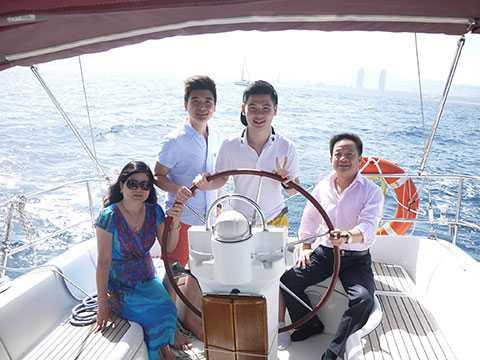 Doanh nhân Đỗ Quang Vinh và gia đình