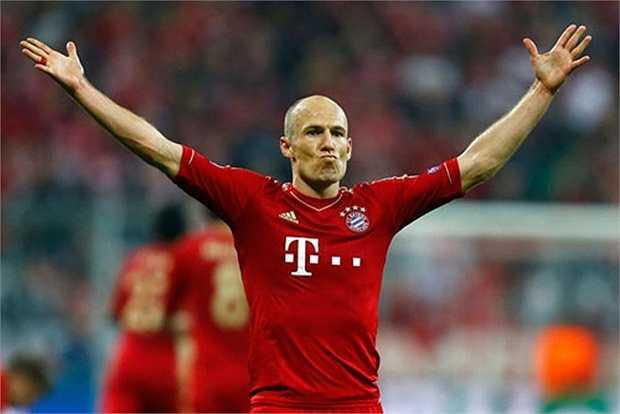 3. Arjen Robben (Bayern Munich). Ảnh: Internet.