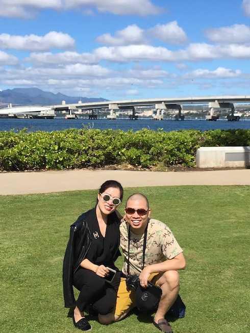 Hải Anh và vợ.3