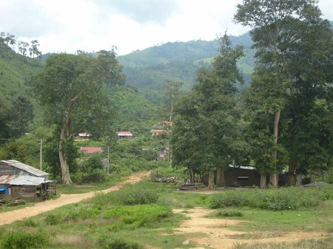Đường vào làng Dip, xã Ia M'nông