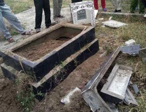 Nhiều ngôi mộ được phát hiện bị đập phá ở Nghĩa trang Đượng Ổi (phường Phương Nam, TP.Uông Bí)