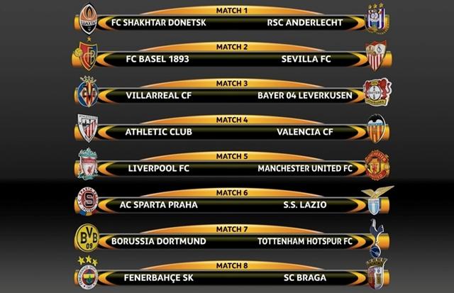 Kết quả bốc thăm Europa League