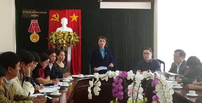 Cuộc họp khẩn nhằm chấn chỉnh, cảnh báo các đơn vị kinh doanh du lịch mạo hiểm sáng 27-2 tại Sở VH-TT&DL tỉnh Lâm Đồng - Ảnh: Chính Thành