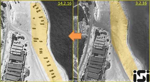 Hệ thống tên lửa đất đối không được triển khai trên đảo Phú Lâm thuộc quần đảo Hoàng Sa của Việt Nam