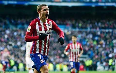 Griezmann ghi bàn duy nhất vào lưới Real Madrid