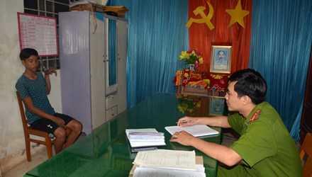 Nguyễn Minh Phương tại cơ quan công an.