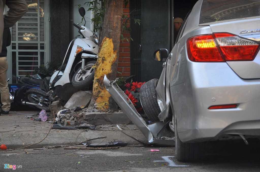 Hiện trường vụ tai nạn - Ảnh: Zing