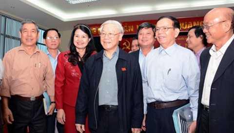Tổng Bí thư Nguyễn Phú Trọng trong một lần tiếp xúc cử tri Hà Nội