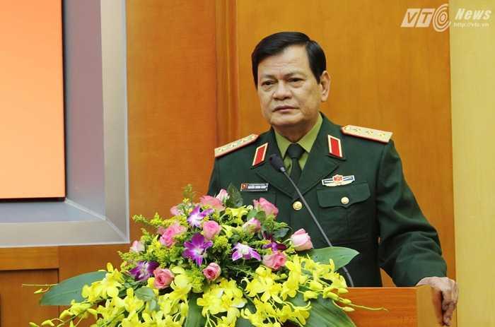 Thượng tướng Nguyễn Thành Cung phát biểu tại Hội nghị - Ảnh: Hồng Pha