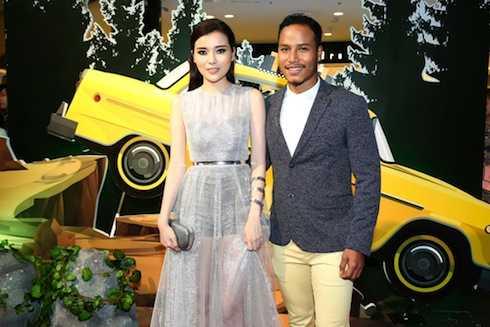 Hai diễn viên Cao Thái Hà và David Phạm.