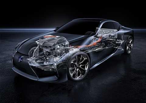 dong co hybrid kieu moi xuat hien tren lexus lc500h 0 Lexus cho động cơ hybrid mới xuất hiện trên LC500h