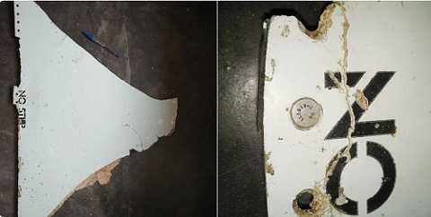 Mảnh vỡ nghi của MH370 thu được tại Mozambique (Ảnh: Twitter/Mark Hanrahan)