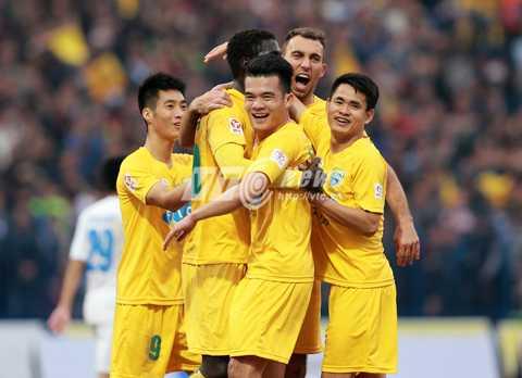 Thanh Hóa của HLV Lê Thụy Hải đang xếp thứ 3 tại V-League 2016 (Ảnh: VIS)