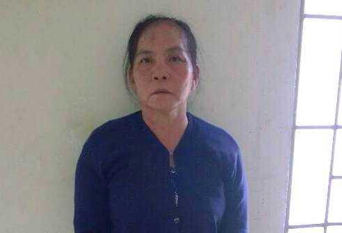 Nguyễn Thị Đèo tại cơ quan công an