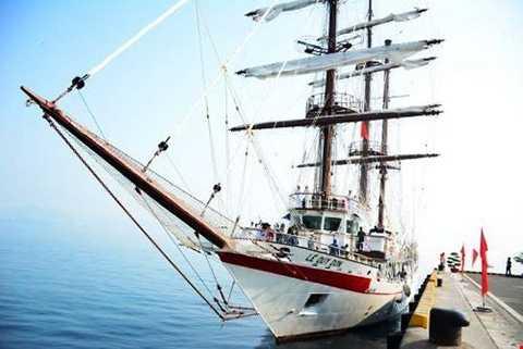 Thượng cờ, thuyền buồm, huấn luyện, hải quân Việt Nam, Nha Trang
