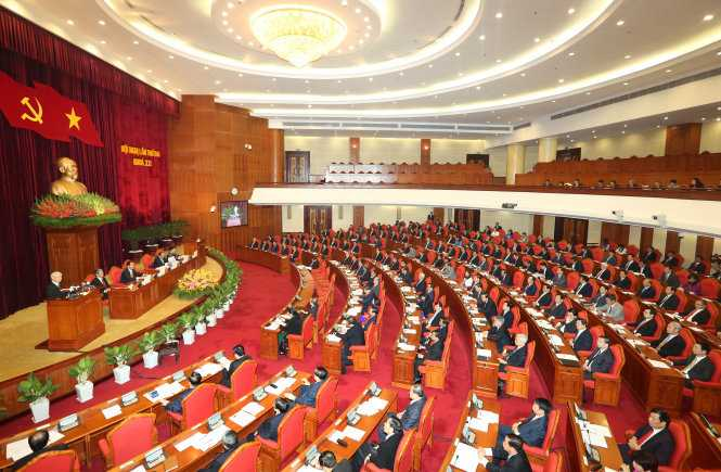 Toàn cảnh phiên khai mạc Hội nghị Ban Chấp hành Trung ương Đảng Cộng sản Việt Nam lần thứ hai, khóa XII - Ảnh: TTXVN