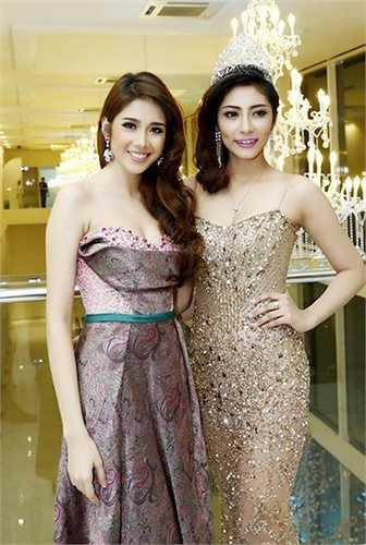 Á hậu Đồng Thanh Vy độ sắc với Hoa hậu Đại dương 2014 Đặng Thu Thảo.