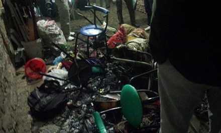 Nhiều đồ đạc trong nhà bị thiêu cháy *ảnh: DC