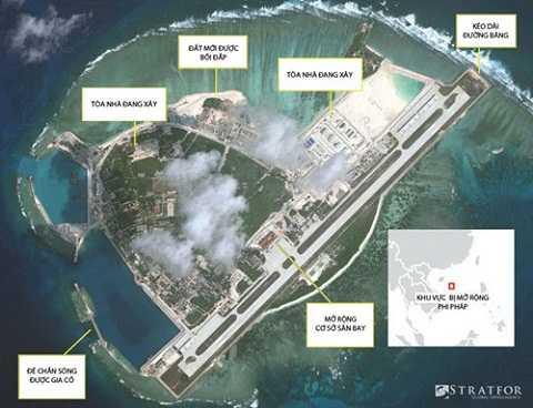 Trung Quốc lại tiếp tục chuỗi gây hấn bằng những chuyến bay dân sự sắp mở đến đảo Phú Lâm - Ảnh: Stratfor