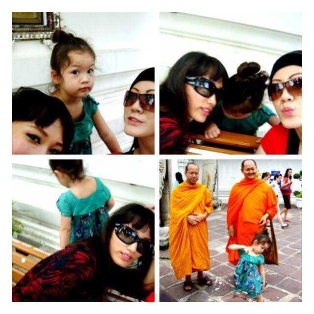 Nữ DJ gốc Việt và con gái.