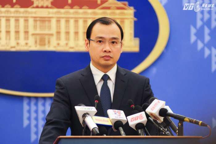 Ông Lê Hải Bình, người phát ngôn Bộ Ngoại giao Việt Nam - Ảnh: Tùng Đinh