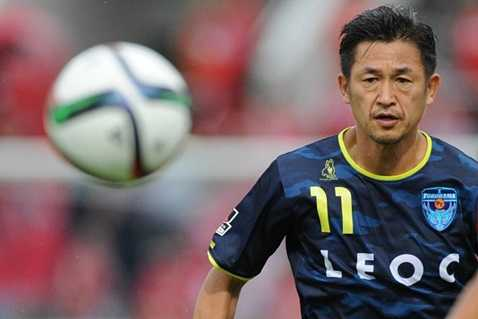 Miura trong màu áo Yokohama FC