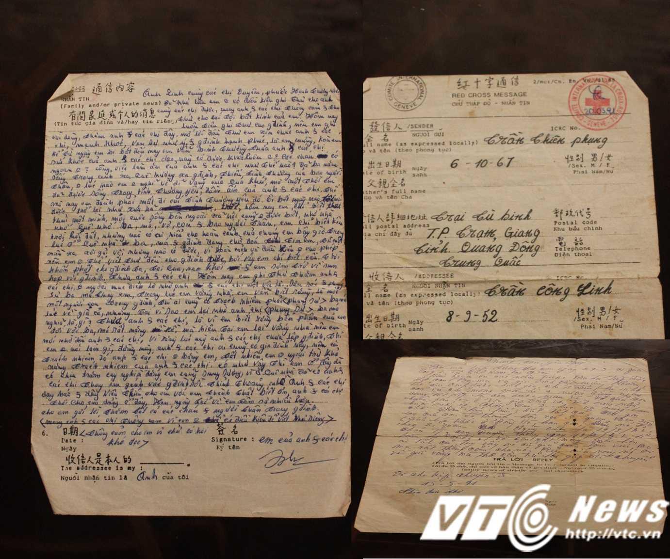Nhờ sự can thiệp của Hội Chữ thập đỏ Quốc tế anh Phụng và gia đình mới được viết thư từ qua lại cho nhau.