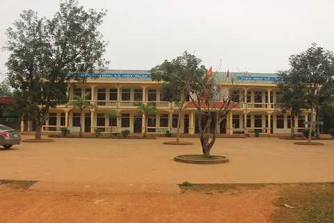Trường tiểu học Quỳnh Thắng A chụp sáng 17/3 - Ảnh: Hồng Thắng