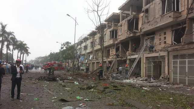 Hiện trường vụ nổ - Ảnh: Nguyễn Quang Minh