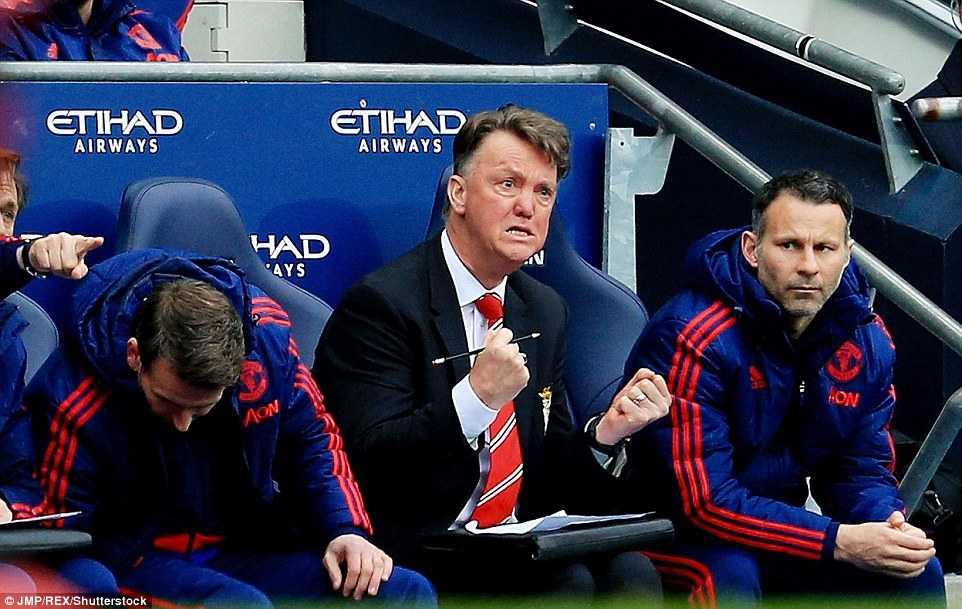 Biểu cảm của Van Gaal với chiến thắng nghẹt thở của Man Utd trước Man City