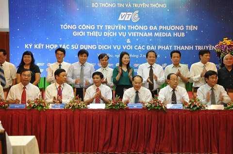 Lễ ký kết hợp tác sử dụng dịch vụ VMH với các Đài PTTH địa phương