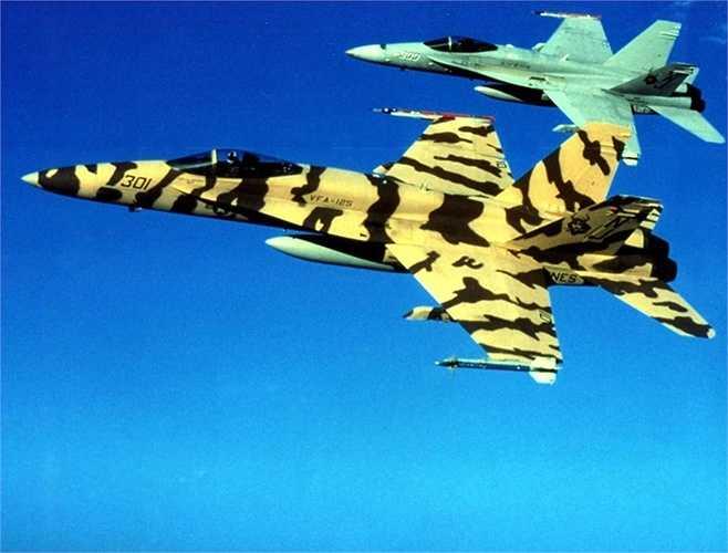 Chiếc F/A-18C sơn vằn hổ độc đáo của Hải quân Mỹ