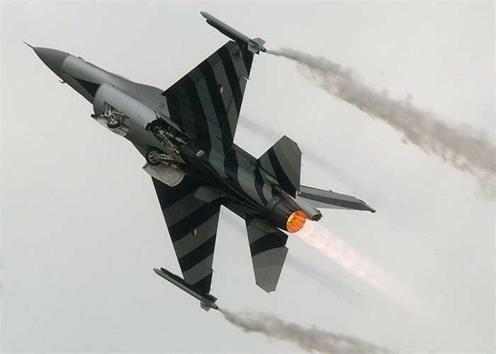 Chiếc F-16 vằn đen của Hà Lan