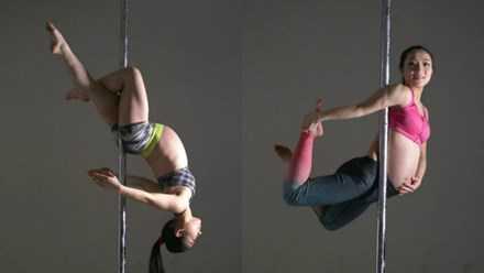 Dân mạng phát sốt với vũ công mang bầu 9 tháng múa cột